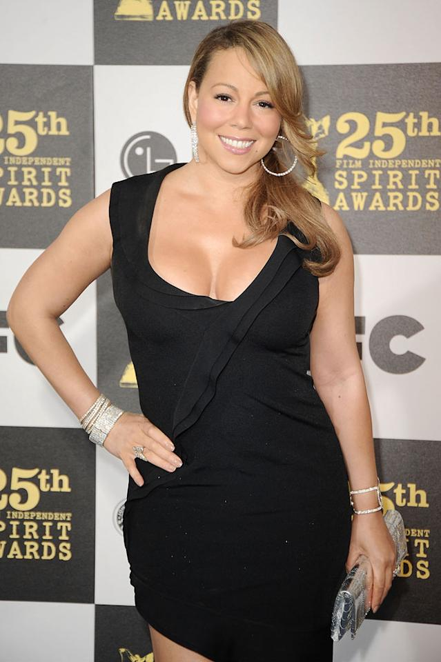 """<i>Star</i> magazine reports that Mariah Carey, who once paid a whopping $662,500 for a piano that belonged to Marilyn Monroe, has now instructed her business manager to """"bid as high as necessary to win every Marilyn item"""" at an upcoming auction. See <a href=""""http://www.gossipcop.com/mariah-carey-marilyn-monroe-auction/"""" target=""""new"""">Gossip Cop</a> to find out just how much cash Carey's willing to spend for Monroe's possessions. Jeff Kravitz/<a href=""""http://www.filmmagic.com/"""" target=""""new"""">FilmMagic.com</a> - March 5, 2010"""