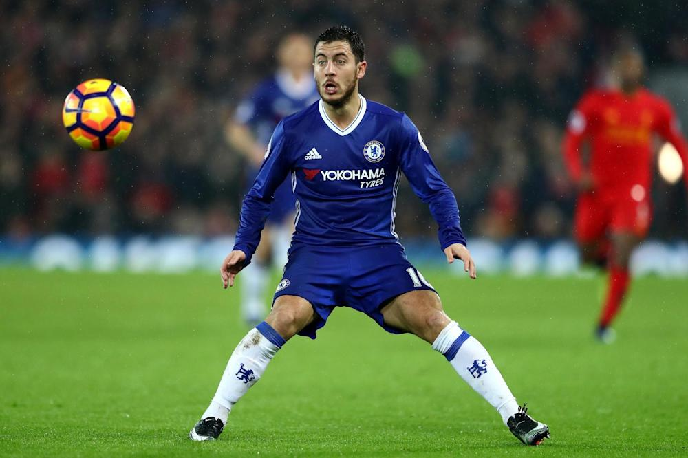 Taking no risks: Eden Hazard was left in London as Chelsea faced Stoke on Saturday: Getty Images