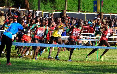 Athletics - IAAF World Cross Country Championships - Senior Race Men - Kololo Independence Grounds, Kampala, Uganda - 26/03/17 - Athletes run in the race. REUTERS/James Akena