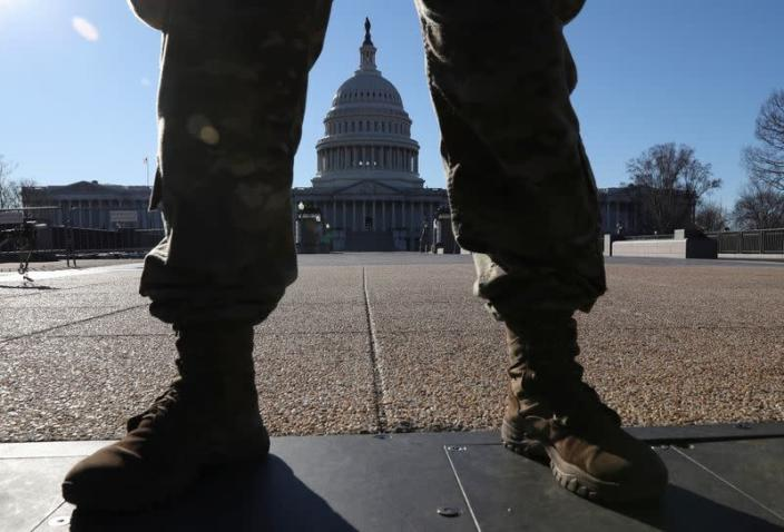 Heightened security at the U.S. Capitol Building in Washington