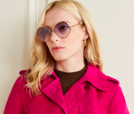 Chloe Dani round-frame rose gold-tone and acetate sunglasses, 60% off, US$241.38/ Approx. SGD336 (was US$645.69). PHOTO: NET-A-PORTER