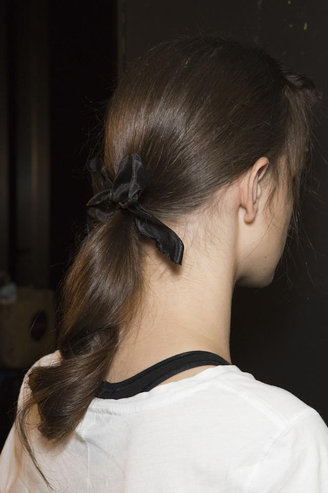 <p>The most affordable hair accessory ever, get your hands on a black ribbon and adorn your ponytail ASAP.</p>