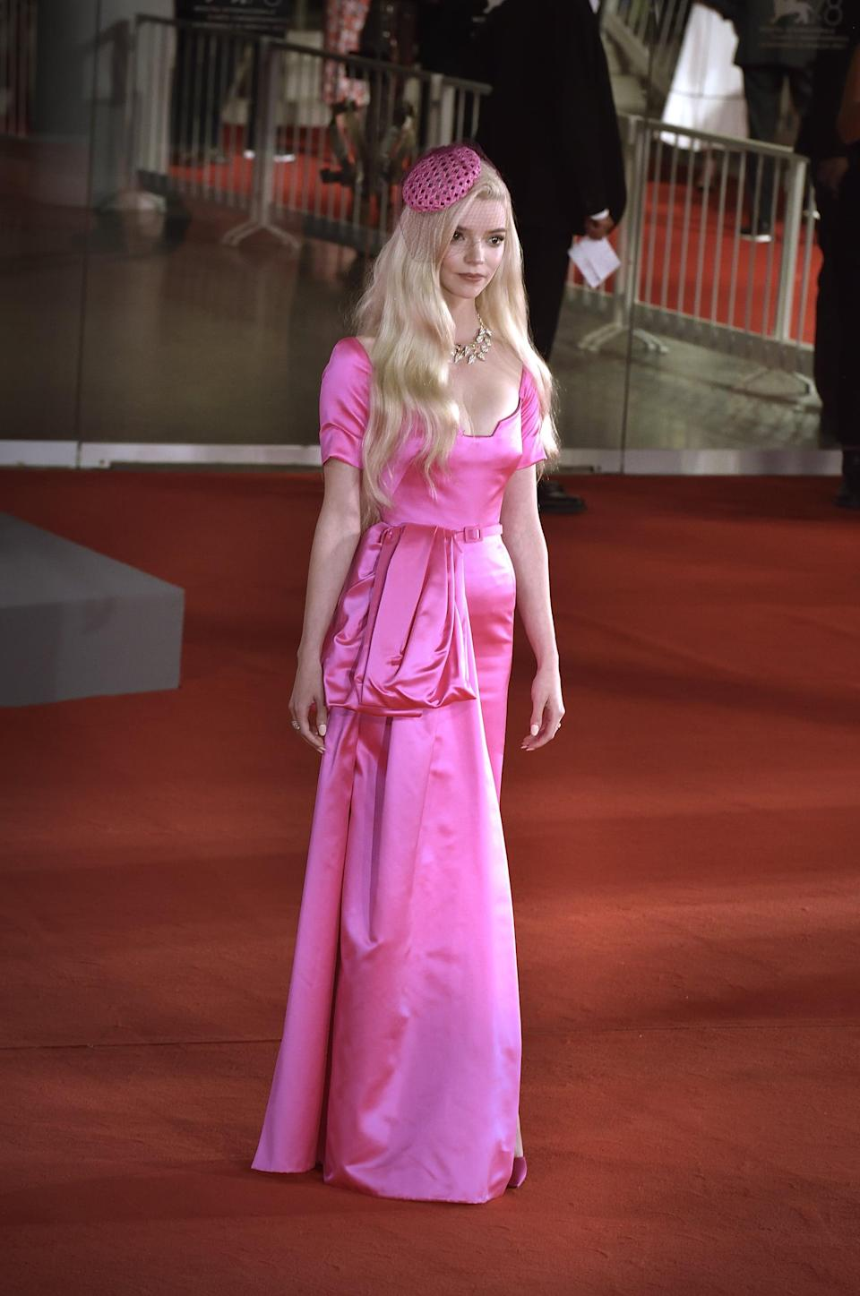 <p>Let's all take a moment for Anya Taylor-Joy in Dior haute couture. This isn't your average Barbie pink attire.</p>