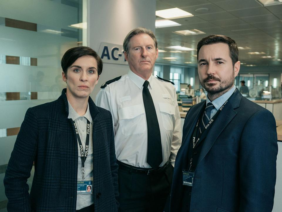 Vicky McClure, Adrian Dunbar and Martin Compston in Line Of Duty (Photo: BBC)