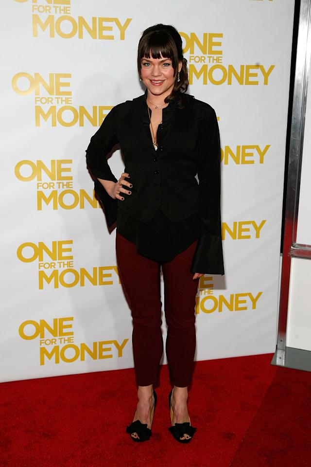 """NEW YORK, NY - JANUARY 24:  Ana Reeder attends the """"One for the Money"""" premiere at the AMC Loews Lincoln Square on January 24, 2012 in New York City.  (Photo by Andy Kropa/Getty Images)"""