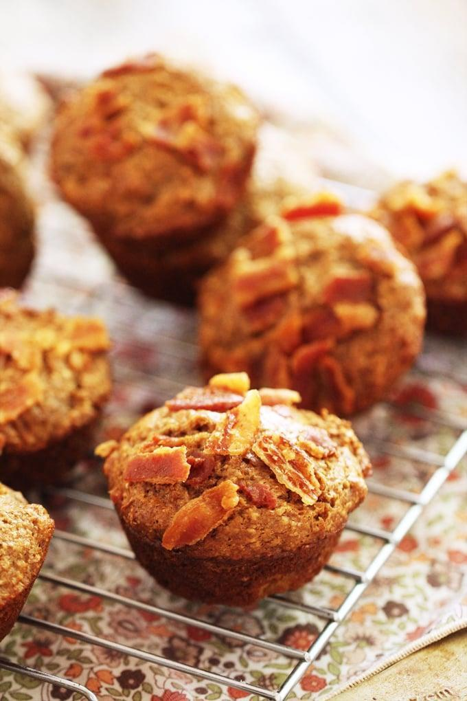 """<p>Bran cancels out bacon, right? These <a href=""""http://portandfin.com/banana-bacon-bran-muffins/"""" class=""""link rapid-noclick-resp"""" rel=""""nofollow noopener"""" target=""""_blank"""" data-ylk=""""slk:banana bacon bran muffins"""">banana bacon bran muffins</a> are actually healthier than they sound. Made with bran, whole-wheat flour, Greek yogurt, and bananas (and, yes, bacon), they're going to fly off the plate!</p>"""
