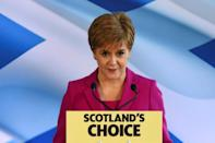 Scottish National Party (SNP) leader Nicola Sturgeon used her party's strong result to push for a new referendum on independence