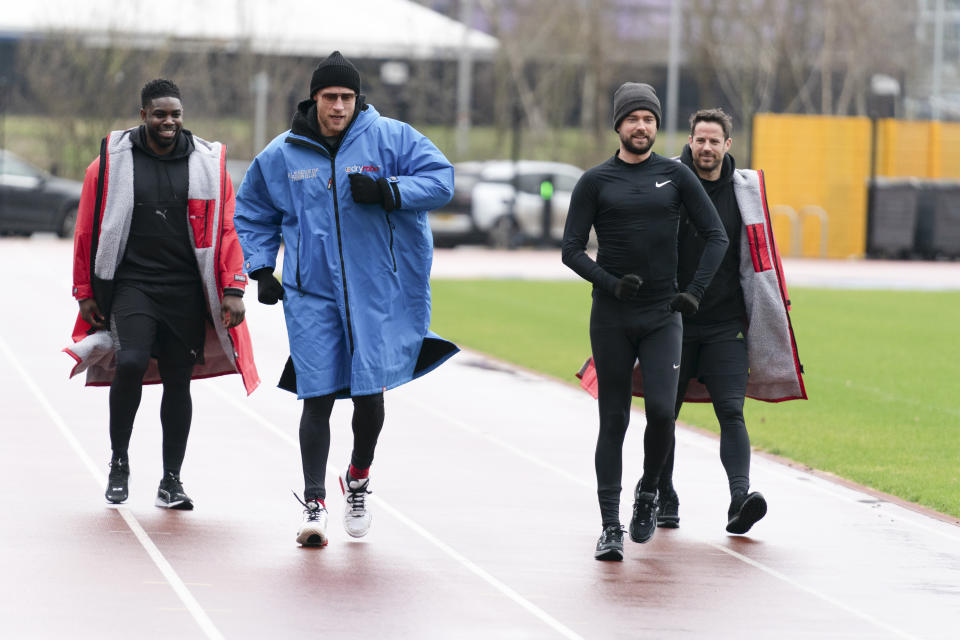 Micah Richards and Freddie Flintoff and Jack Whitehall and Jamie Redknapp. (Sky UK)