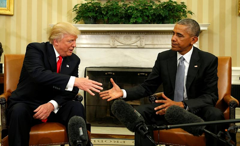 President-elect Donald Trump meets with President Barack Obama. (Photo: Kevin Lamarque/Reuters)