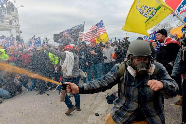 PHOTO: Trump supporters clash with police and security forces as people try to storm the U.S. Capitol Building, Jan. 6, 2021, in Washington, D.C. (Joseph Prezioso/AFP via Getty Images)