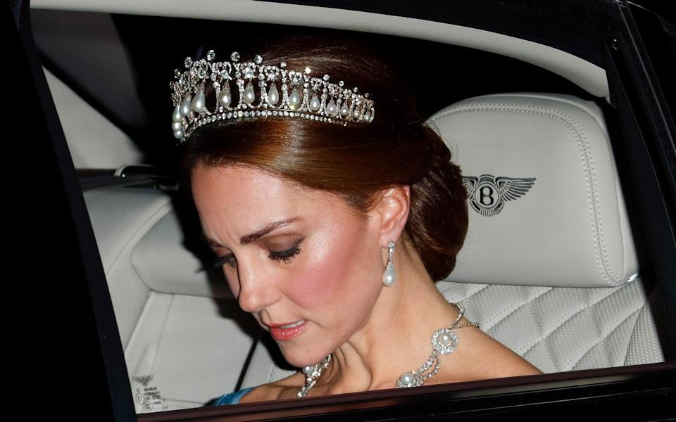the Duchess of Cambridge wore the Lover's Knot tiara - Getty/Getty