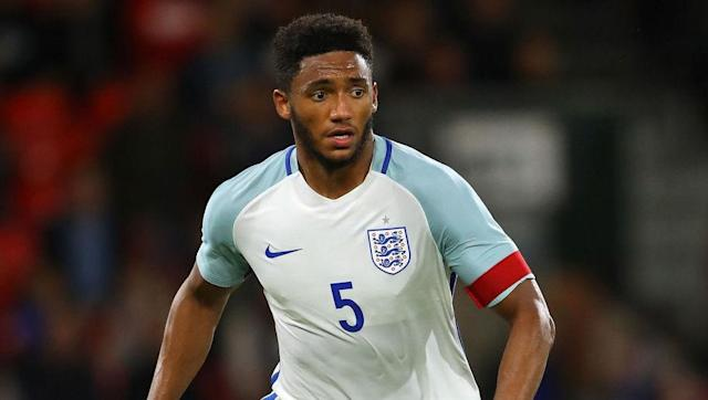 """<p>Centre-backs are probably more aligned with the need for leadership than any other position on the pitch. As they can see the whole game at once from their position, it makes sense for them to wear the armband and set the standard for the rest of their team mates to follow. </p> <br><p>Announced as the England U21 captain in August of this year, Joe Gomez earned the opportunity to lead the side, notably playing as a centre-back.</p> <br><p>Speaking to <a href=""""http://www.skysports.com/football/news/11669/11013211/liverpools-joe-gomez-appointed-england-u21-captain"""" rel=""""nofollow noopener"""" target=""""_blank"""" data-ylk=""""slk:Sky Sports"""" class=""""link rapid-noclick-resp"""">Sky Sports</a>, England U21 manager Aidy Boothroyd said: """"I've been really impressed with Joe and I've decided he will be captain. </p> <br><p>""""I'm delighted he's been getting game time at Liverpool, that's exactly what he want. He's just one of those blokes who you think 'I could be in the trenches with you'.""""</p>"""