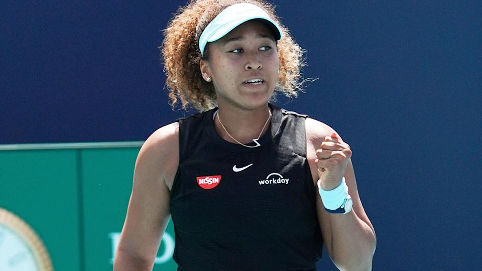 Naomi Osaka, pictured here in action at the Miami Open.