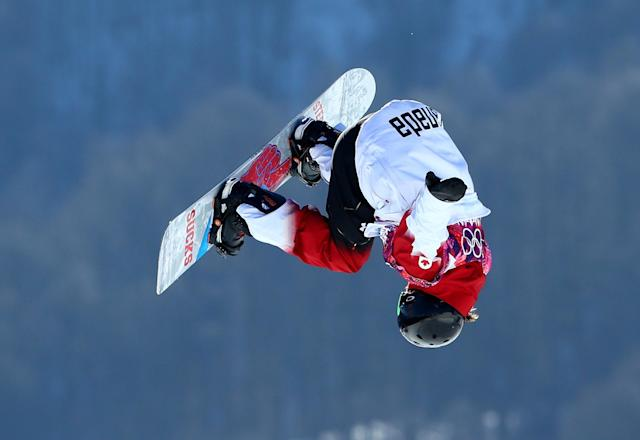 SOCHI, RUSSIA - FEBRUARY 08: Charles Reid of Canada competes during the Snowboard Men's Slopestyle Semifinals during day 1 of the Sochi 2014 Winter Olympics at Rosa Khutor Extreme Park on February 8, 2014 in Sochi, Russia. (Photo by Cameron Spencer/Getty Images)