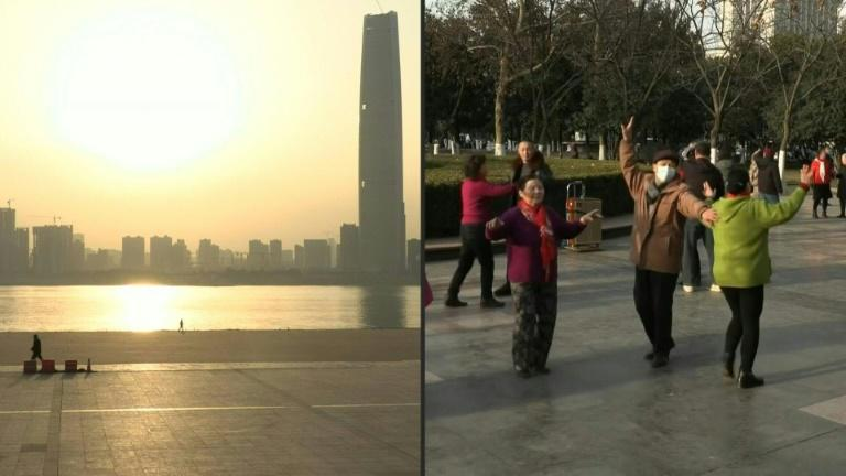 Sunrise in Wuhan a year after China's first death from Covid-19
