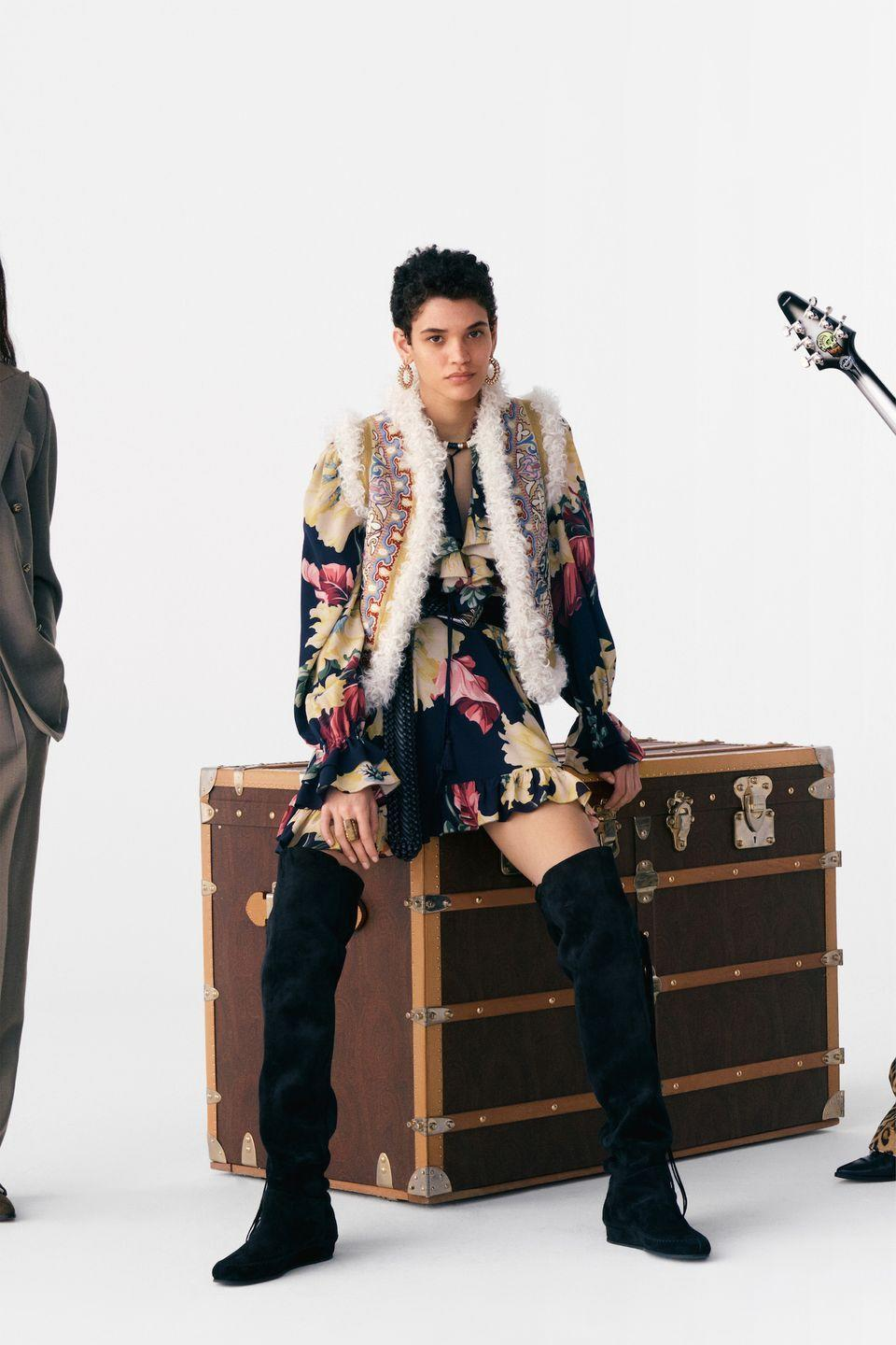 <p>Bohemia is a characteristic that is embedded in the Etro's DNA. The Italian label's pre-fall 2021 collection, however, was far more rhapsodic. From the shearling-lined vests to to the '70s-style, animal-print suits, the entire lineup is the stuff of rock legends. </p>
