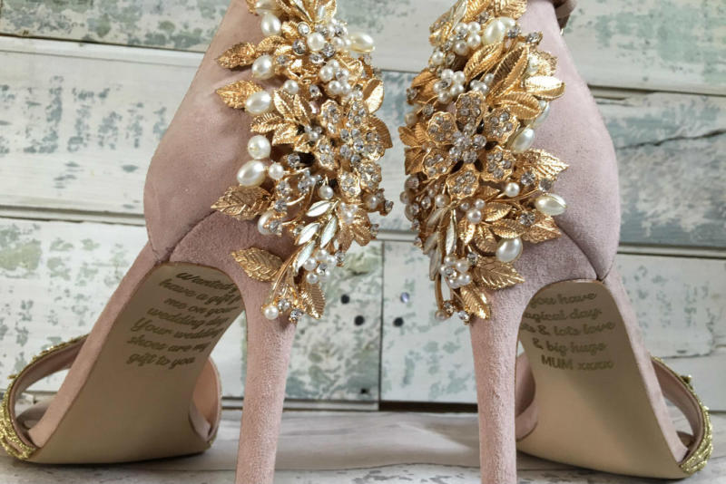 0e63727c8 Bride Discovers Secret Message From Her Late Mother on Her Wedding Heels