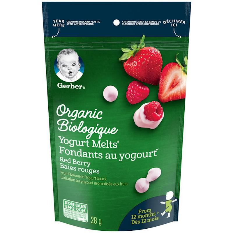 GERBER Organic Yogurt MELTS Red Berry Toddler Snack
