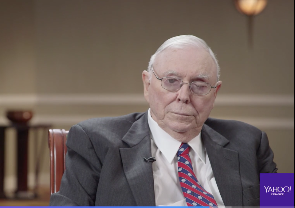 Berkshire Hathaway vice chairman Charlie Munger speaks to Yahoo Finance on May 6, 2018.