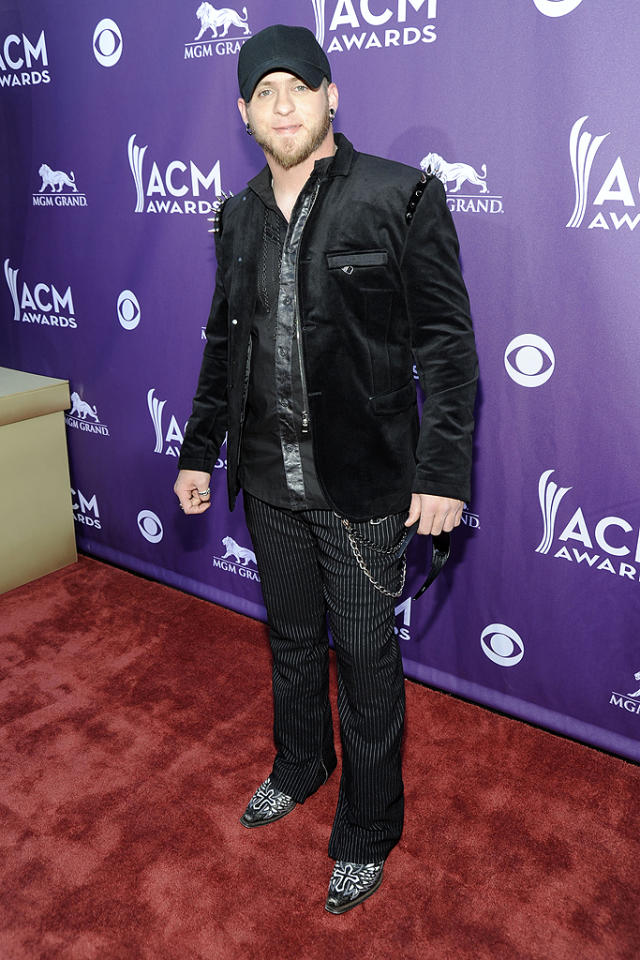 "<p class=""MsoNormal"">Yikes. ""Country Must Be Country Wide"" crooner Brantley Gilbert looked a little confused about what exactly to wear to the ceremony. He'll know better next year!</p>"