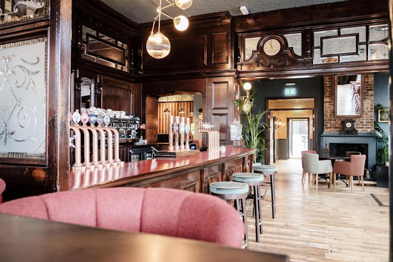 New look: The refurbished Half Moon pub will open its doors again on Monday