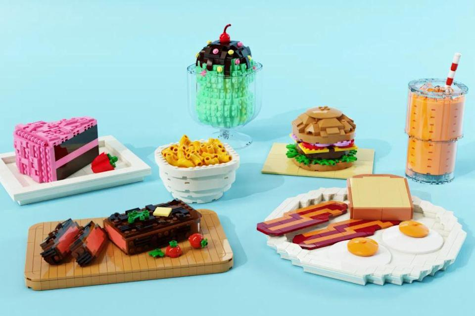 The Taste of LEGO fan build is a miniature full course meal.