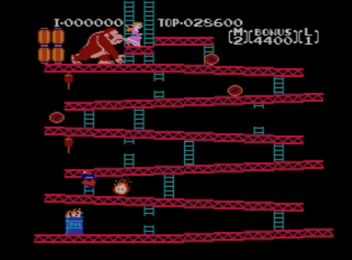 <p>Before the advent of home video game systems, kids in the 70s played a lot of board games. This is basically Chutes and Ladders come to life, but with the first appearances of Donkey Kong and Mario (aka Jumpman). </p>