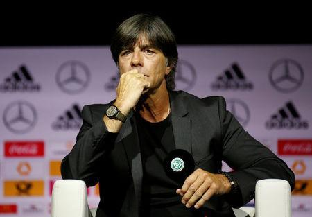Soccer Football - Germany - Joachim Loew Press Conference - German Football Museum, Dortmund, Germany - May 15, 2018 Germany coach Joachim Loew during the press conference REUTERS/Leon Kuegeler