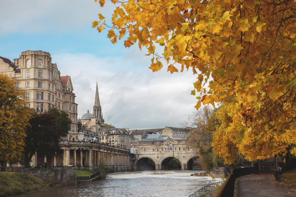 Autumnal colours of city of Bath