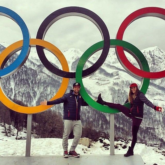<p>travisganong: Our love is at an #olympic level!! #happyvalentinesday @mmgagnon (Photo via Instagram/travisganong) </p>