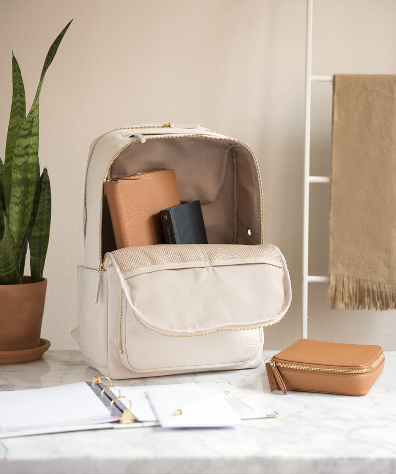 This vegan leather laptop backpack is on sale for $99 (was $138). (Photo: Walmart)