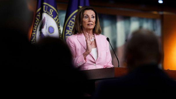 PHOTO:House Speaker Nancy Pelosi delivers remarks during her weekly news conference on Capitol Hill, Sept. 12, 2019 in Washington, D.C. (Tom Brenner/Getty Images)