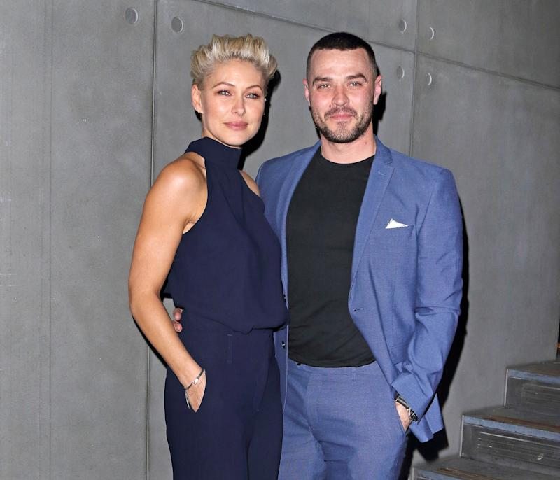 Emma Wills and Matt Willis at the launch party for new clothing line of 'Emma Willis for Next' at the Marylebone Hotel. (Photo by Keith Mayhew / SOPA Images/Sipa USA)