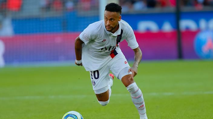 Mandatory Credit: Photo by Alfonso Jimenez/Shutterstock (10414056m)Neymar JrPSG v Strasbourg, French Ligue 1 football match, Parc des Princes, Paris, France - 14 Sep 2019.