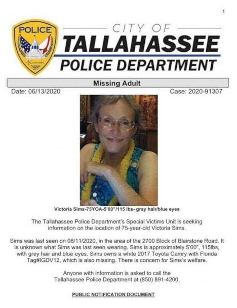 PHOTO: A missing poster released by Tallahassee Police of Victoria Sims. (Tallahassee Police Department)