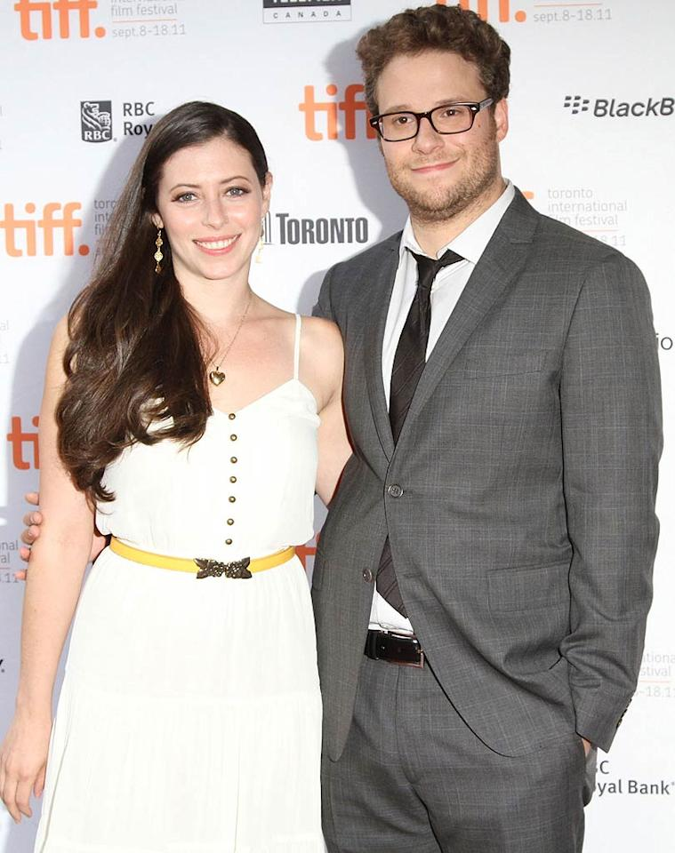 """His characters in movies like """"Knocked Up"""" and """"Pineapple Express"""" are immature to put it mildly, but in real life actor Seth Rogen was ready to settle down. The """"50/50"""" star and his girlfriend since 2004, writer Lauren Miller, tied the knot at Kunde Estate in Sonoma, California, on October 2. And yes, all of Seth's onscreen pals like Judd Apatow, Paul Rudd, and Jonah Hill were in the house."""