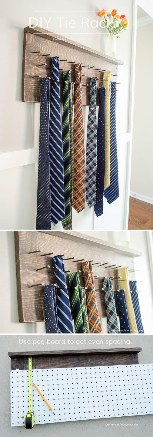 """<p>He may already have a ton of ties, but does he have a home for them that's as cool as this?</p><p><a href=""""https://www.craftaholicsanonymous.net/diy-tie-rack-tutorial"""" rel=""""nofollow noopener"""" target=""""_blank"""" data-ylk=""""slk:Get the tutorial."""" class=""""link rapid-noclick-resp"""">Get the tutorial. </a></p><p><a class=""""link rapid-noclick-resp"""" href=""""https://www.amazon.com/Gorilla-18-Ultimate-Waterproof-Natural/dp/B08J1MJ28D?tag=syn-yahoo-20&ascsubtag=%5Bartid%7C10072.g.27603456%5Bsrc%7Cyahoo-us"""" rel=""""nofollow noopener"""" target=""""_blank"""" data-ylk=""""slk:SHOP WOOD GLUE"""">SHOP WOOD GLUE</a></p>"""