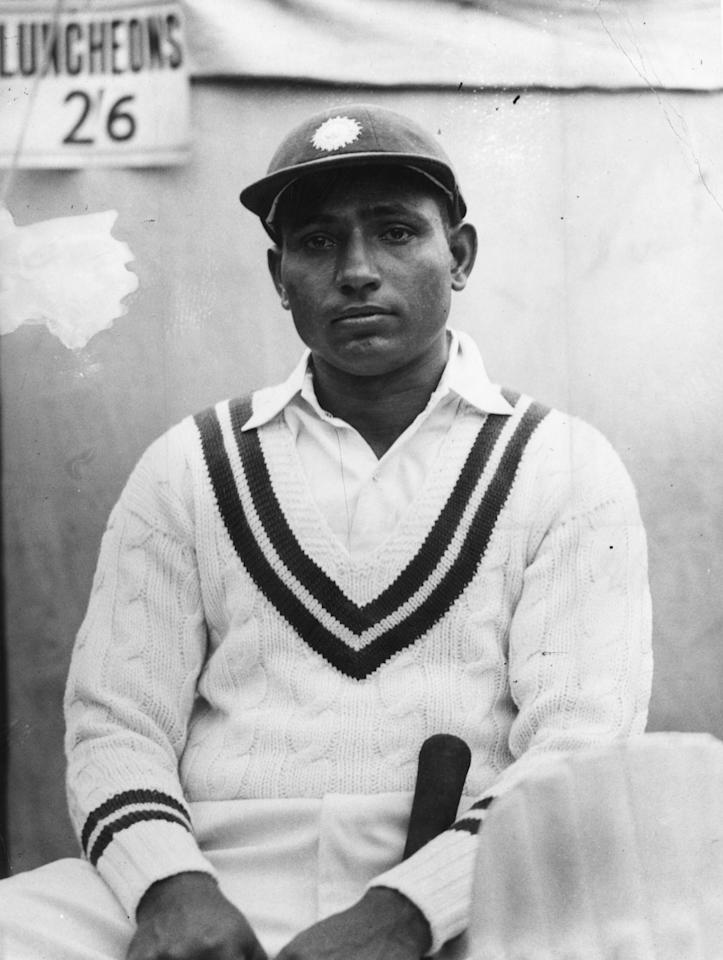 30th April 1936:  India cricketer Lala Amarnath (1911 - ) during the All-India tour of England,  played for India between 1933 and 1953.  (Photo by A. Hudson/Topical Press Agency/Getty Images)