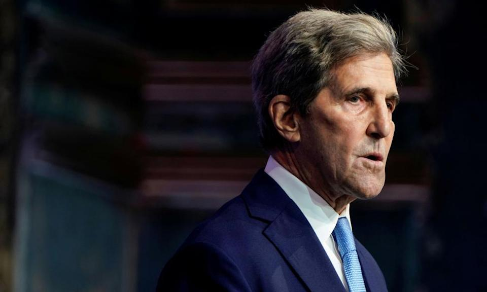 John Kerry said that 'we need to all move together' to tackle the climate crisis.