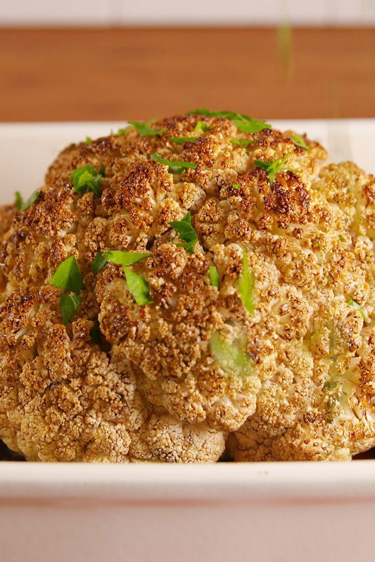 """<p>We'll take this crazy flavorful, vegan dish over a roast chicken any day.</p><p>Get the recipe from <a href=""""/cooking/recipe-ideas/recipes/a53157/balsamic-glazed-roasted-cauliflower-recipe/"""" data-ylk=""""slk:Delish"""" class=""""link rapid-noclick-resp"""">Delish</a>.</p>"""