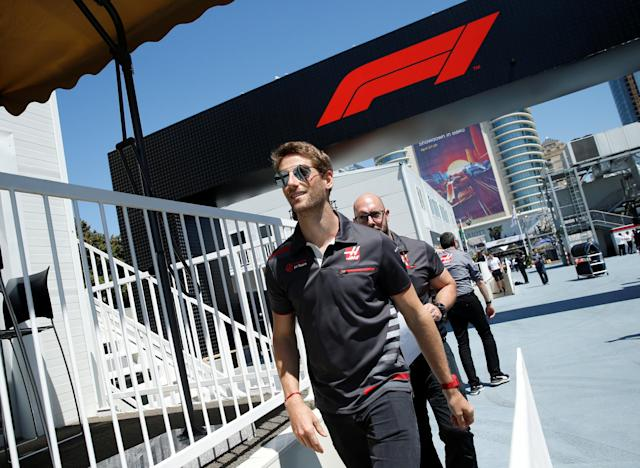 Formula One - F1 - Azerbaijan Grand Prix - Baku City Circuit, Baku, Azerbaijan - April 26, 2018 Romain Grosjean of Haas F1 team ahead of the Azerbaijan Grand Prix REUTERS/David Mdzinarishvili