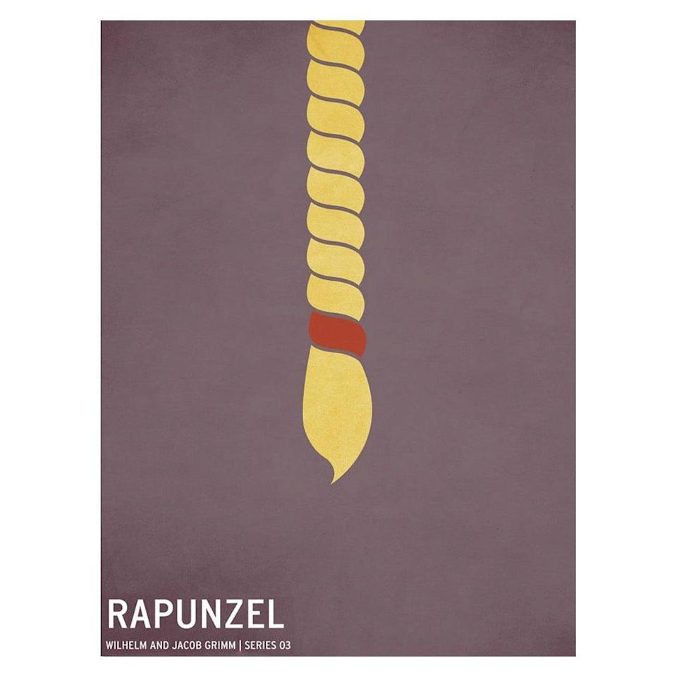 <p>Pay a subtle nod to Rapunzel by giving them the <span>Rapunzel by Christian Jackson Wall Art</span> ($50).</p>