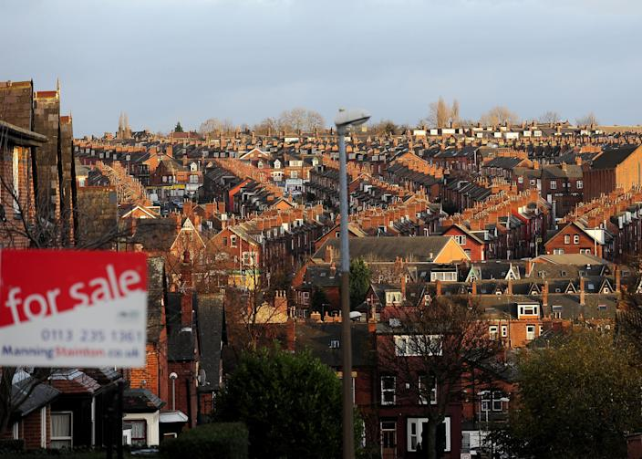 Properties in Leeds as residential home sales jump in the UK. Photo: PA