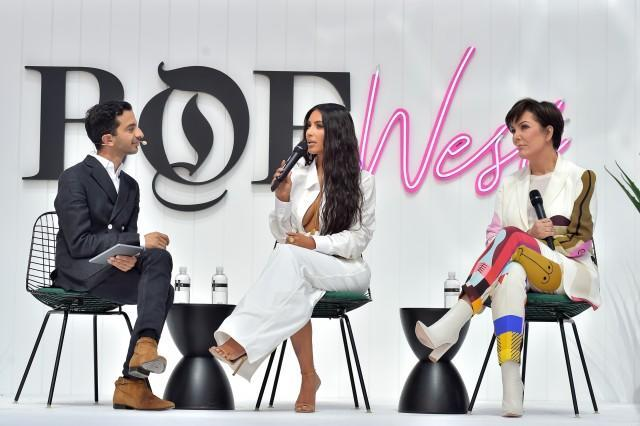 The social media star and entrepreneur spoke on her business, the newest season of 'KUWTK' and how her hubby changed her style game forever at the 'Business of Fashion's' West Coast summit.