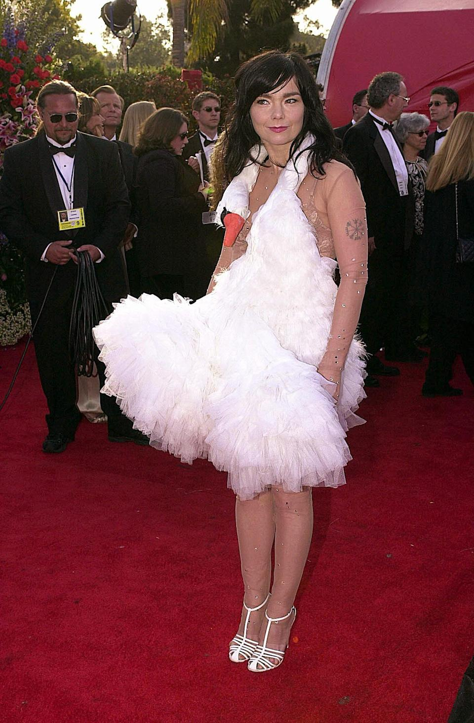 Björk at the 2001 OscarsAFP/Getty