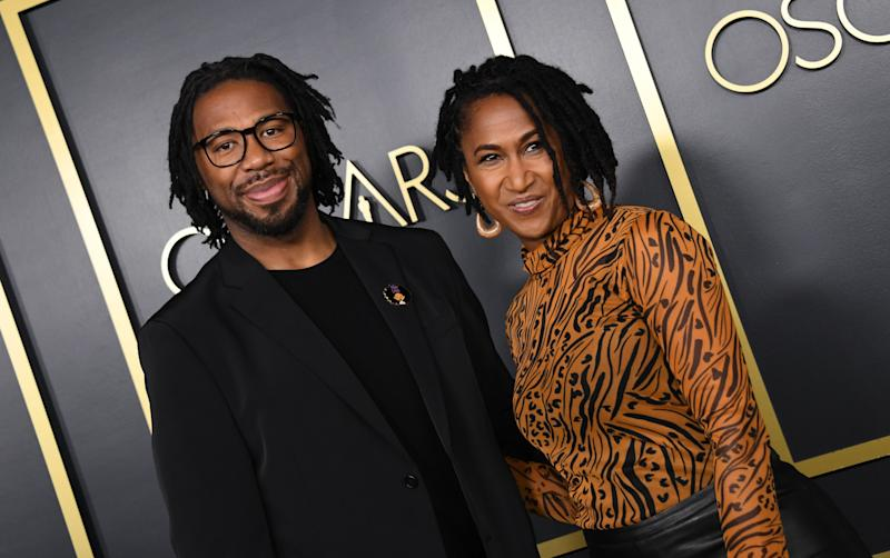 Director Matthew A. Cherry and producer Karen Rupert Toliver arrive for the 2020 Oscars Nominees Luncheon in Hollywood on January 27, 2020. (Photo by Valerie MACON / AFP)