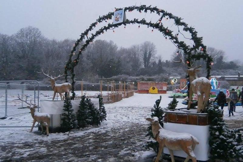 Wintefest was planned to run until January 2. (Bizarro's Theme Park Photography)
