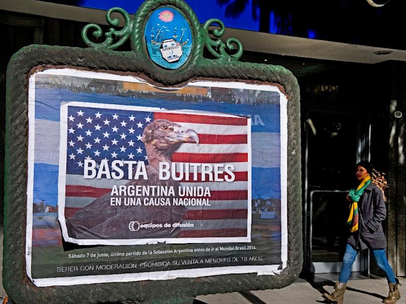 """The practices of so-called """"vulture funds"""" that buy up countries' bad debts and sue for full payment has surged to the fore in South America because of the ongoing legal battle between Argentina and two hedge funds suing it in US federal court (AFP Photo/Alejandro Pagni)"""