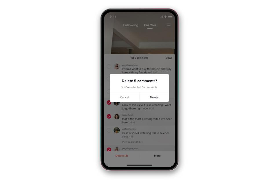 TikTok's latest anti-bullying tools let you remove comments in bulk
