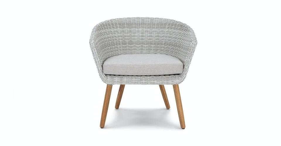 <p>Get a little sun in this <span>Article Ora Beach Sand Basket Chair</span> ($249).</p>